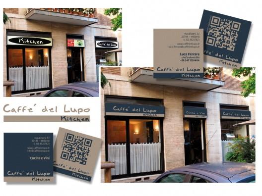 Caffè del Lupo kitchen - brand identity e insegna