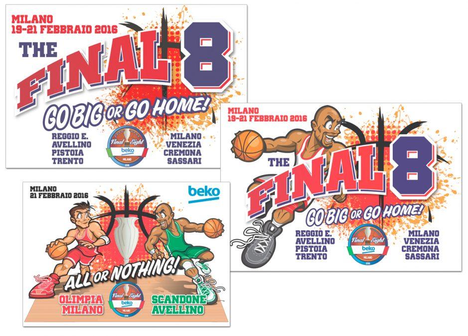 Grafica per le Final Eight di Basket-Coppa Italia