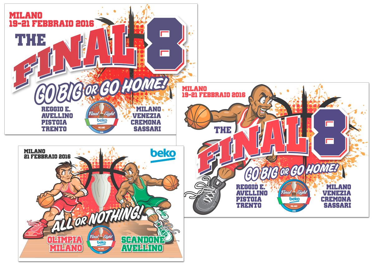 Grafica per le Final Eight di Basket-Coppa Italia