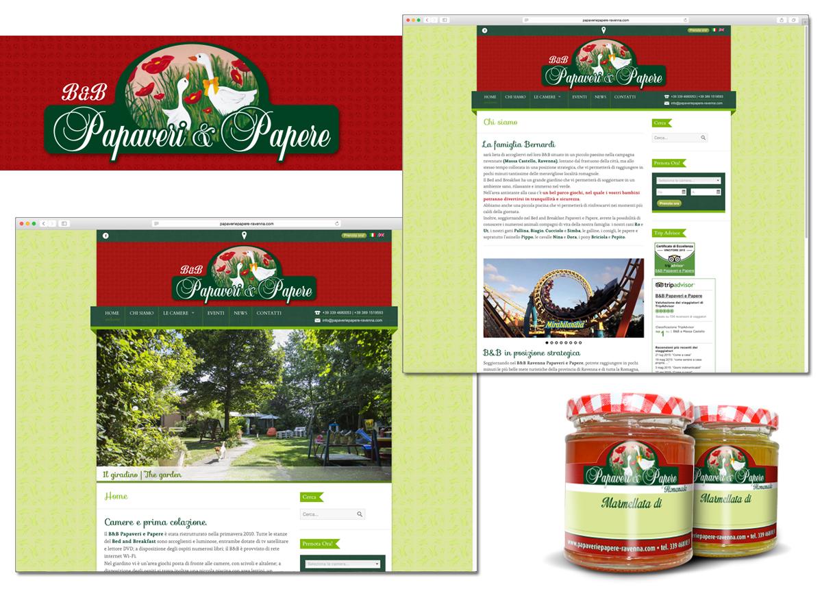 B&B Papaveri e Papere sito web e brand identity