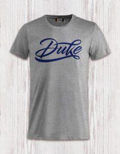 T-Shirt Logo Duke blu Floccato
