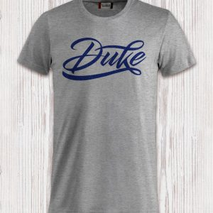 T-Shirt Logo Duke blu Floccato